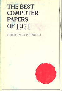 The Best Computer papers of 1971