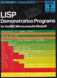LISP - Demonstration Programs Disk Version