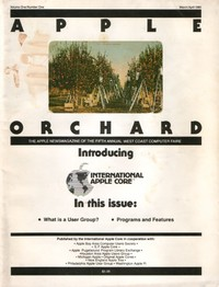 Apple Orchard - Vol 1 Number 1 - March/April 1980