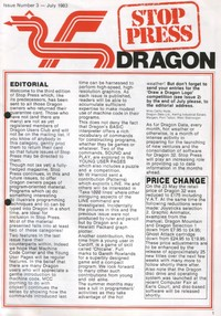 Dragon Stop Press - Issue 3 - July 1983