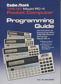 Radio Shack PC-4 Programming Guide