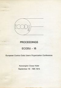 ECODU 18 - September 1974 - Conference Proceedings