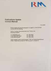 Rm Nimbus Publication Update - contact Manual PN 23902