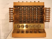Wilhelm Schickard invented a calculating machine,