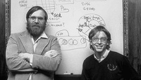 Bill Gates and Paul Allen sign a licensing agreement with MITS