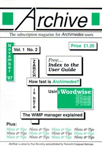 Archive - Vol 1, No 2 - November 1987