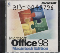 Microsft Office 98 Macintosh Edition (Unboxed)