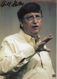 Bill Gates signed publicity photograph