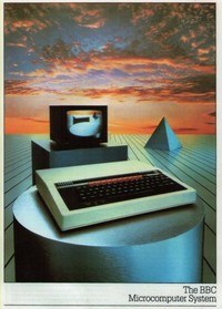 BBC Microcomputer Publicity poster