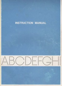 Brother EP-44 Instruction Manual