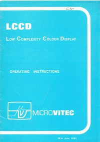 Microvitec - LCCD (Low Complexity Colour Display) Operating Instructions - Issue 2