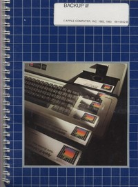 Apple III: Backup III