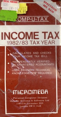 Income Tax 1982/83 Tax Year