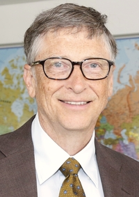 Bill Gates, co-founder of Microsoft Corporation, was born