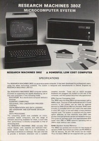Research Machines 380Z Microcomputer System