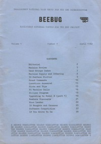 Beebug Newsletter - Volume 1, Number 1 - April 1982 - First Edition