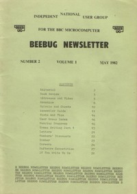 Beebug Newsletter - Volume 1, Number 2 - May 1982