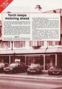 Torch Compucar software for the motor trade