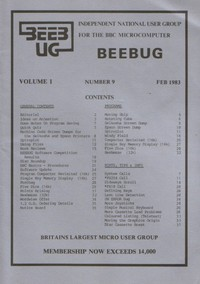 Beebug Newsletter - Volume 1, Number 9 - February 1983
