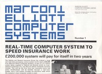 Marconi Elliott Computer Systems Number 1
