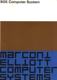 Marconi Elliott 905 Computer System - Documents