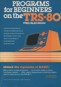 Programs for Beginners on the TRS-80