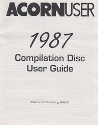 Acorn User - 1987 Compilation Disc