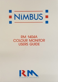 RM Nimbus RM 1404A Colour Monitor Users Guide