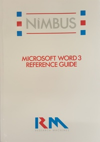 RM Nimbus Microsoft Word 3 Reference Guide PN 23337
