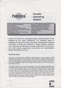 Helios Parallel Operating System Marketing Leaflet