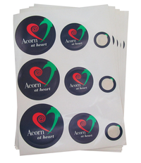 Acorn at the Heart - Round Stickers