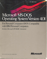 Microsoft MS-DOS Operating System 4.01