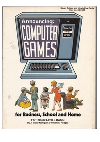 Computer Games for Business, School and Home, for TRS-80 Level II BASIC