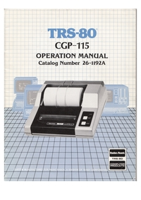TRS-80 Colour Graphic Printer Manual