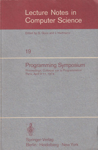 Lecture Notes in Computer Science 19 Programming Symposium