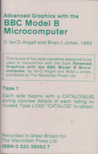 Advanced Graphics with the BBC Model B Microcomputer Tape 1