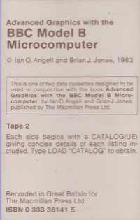 Advanced Graphics with the BBC Model B Microcomputer Tape 2