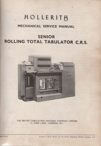 Hollerith Senior Rolling Total Tabulator Service Manual