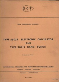 ICT Type 550/2 Electronic Calculator