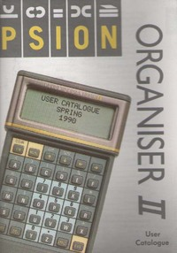 Psion Organiser II User Catalogue