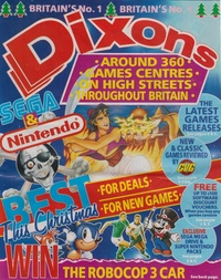 Dixons - Christmas 1993 Video Games Flyer
