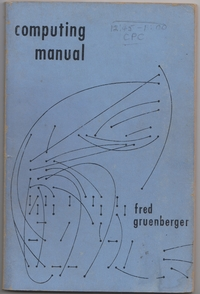 Computing Manual (University of Wisconsin, 1952)