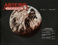 Artemis International Newsletter Vol 1 No 1