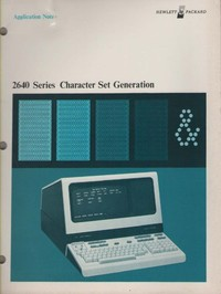 HP 2640 Series Character Set Generation