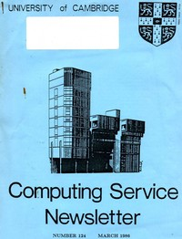 University of Cambridge Computing Service January/February 1986 Newsletter 123