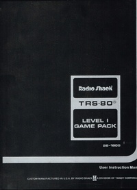 TRS-80 Level 1 Game Pack
