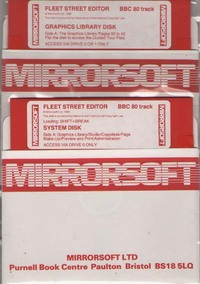 Fleet Street Editor Manual & Software for the BBC Micro