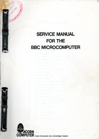 Acorn BBC Micro Service Manual - Issue 2 (2)