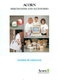 Acorn Merchandise and Accessories - Summer 1989 Catalogue