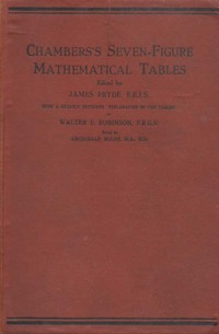 Chambers Seven-Figure Mathematical Tables
